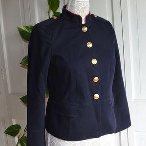NWT $179 Talbots Navy Blue Military Blazer 8P, 14P